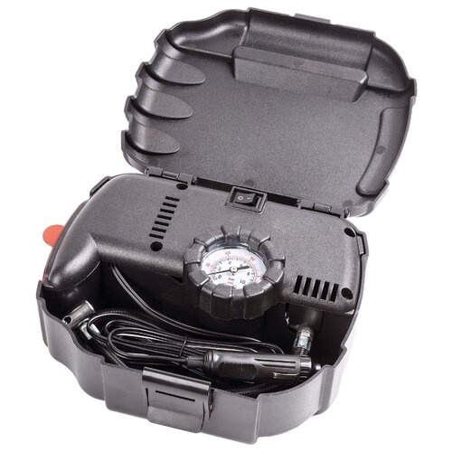 Автомобильный компрессор AUTOPROFI AP-070 черный оплетка руля autoprofi luxury ap 810 с плетеными вставками цвет черный серый размер m 38 см ap 810 bk bk gy m