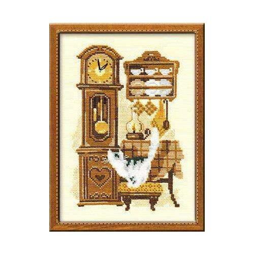 Купить Риолис Набор для вышивания 858 «Часы» 18 х 24 см, Наборы для вышивания