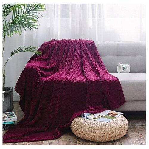 Плед Cleo Royal plush 200х220 см, бордовый плед cleo moreska 200х220 см бордовый