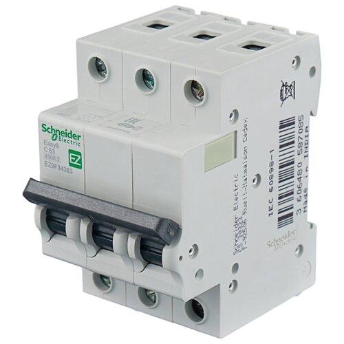 Автоматический выключатель Schneider Electric Easy 9 3P (C) 4,5kA 63 А автоматический выключатель schneider electric ez9f34306 easy 9 3p 6a c