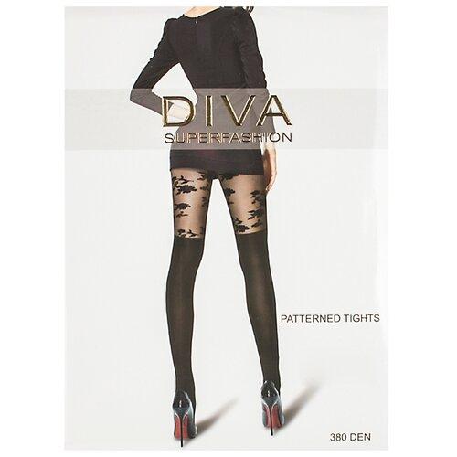 Колготки DIVA SUPERFASHION DK-59 380 den, размер free size, черный колготки diva superfashion secret 128 380 den размер free size черный черный