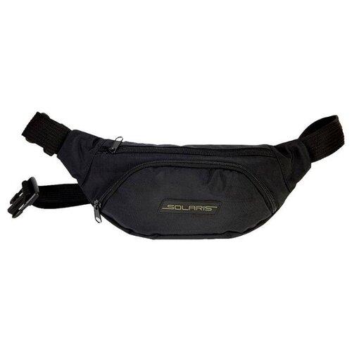 Сумка поясная SOLARIS, текстиль, черный сумка поясная kite время и стекло vis19 2562 текстиль