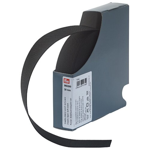 Prym Эластичная лента мягкая (955380), черный 3 см х 10 м prym эластичная лента мягкая 955351 белый 1 5 см х 10 м