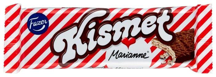Вафли Fazer Kismet Marianne батончик шоколадно-вафельный с начинкой из какао с мятным вкусом 55 г