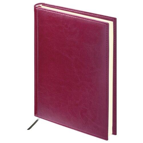 Ежедневник BRAUBERG Imperial 123413 недатированный, искусственная кожа, А5, 160 листов, бордовый ежедневник brauberg imperial а5 160 листов недатированный коричневый