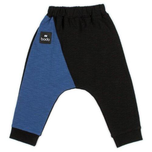 Купить Брюки bodo 6-109U размер 86-92, черный/синий, Брюки и шорты