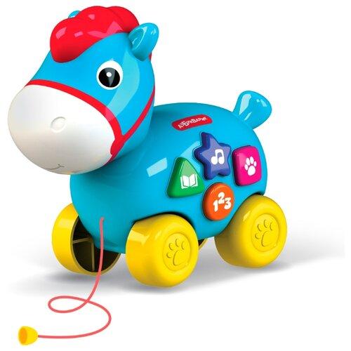 Купить Каталка-игрушка Азбукварик Лошадка голубой, Каталки и качалки