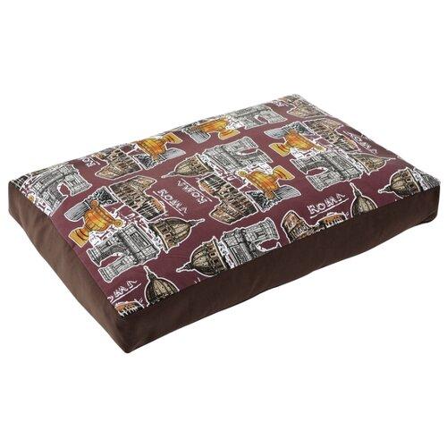 Лежак для собак Fauna International Roma 80х55х8 см коричневый