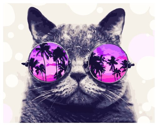 Купить Картины по Номерам на Холсте 40 х 50 см Кошки - Космический кот Холст на Подрамнике по низкой цене с доставкой из Яндекс.Маркета (бывший Беру)