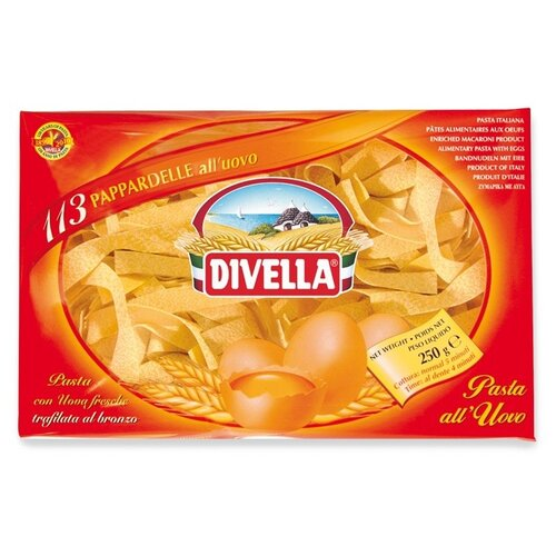 Divella Макароны All Uovo Pappardelle 101 яичные, 500 г
