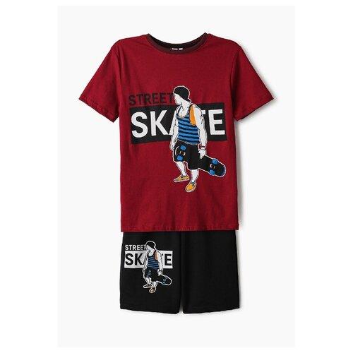 Купить Комплект одежды Elaria размер 140, красный/черный, Комплекты и форма