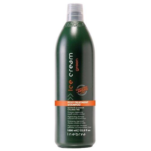 Купить Шампунь для окрашенных химически обработанных волос с маслом арганы и подсолнечником INEBRYA Green, 1000мл