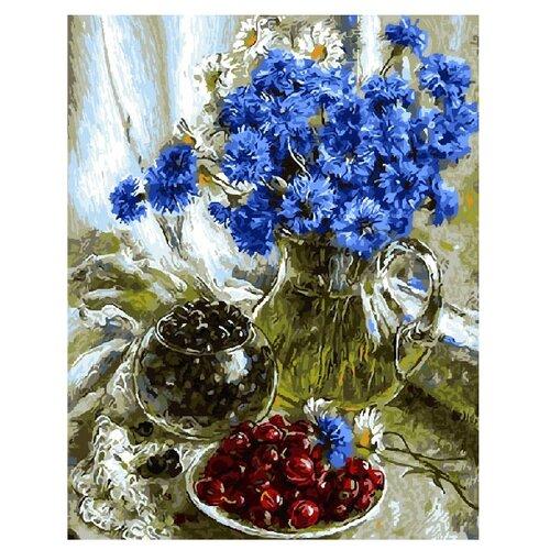 Купить ВанГогВоМне Картина по номерам Василек и можевельник , 40х50 см (ZX 10010), Картины по номерам и контурам