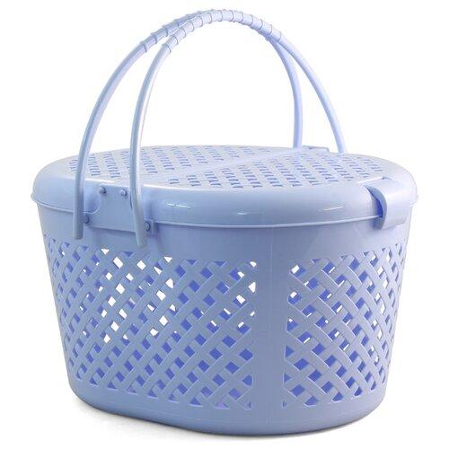 Корзина-переноска для кошек и собак Triol 1045-1 М 44х35х26 см голубой сумка переноска для собак triol лаура 46х26 5х28 см голубой серый