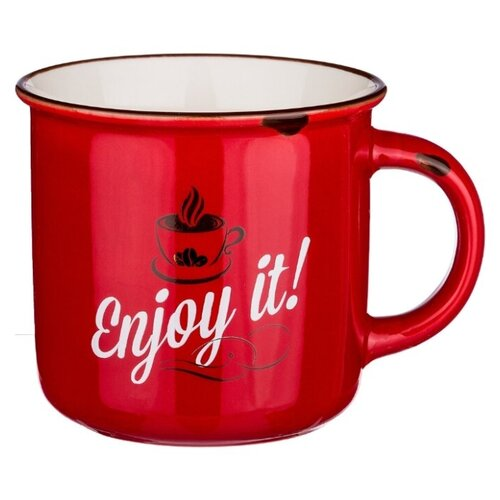 Lefard Кружка Enjoy it! 400 мл красный mug lefard 400 ml tropical motif