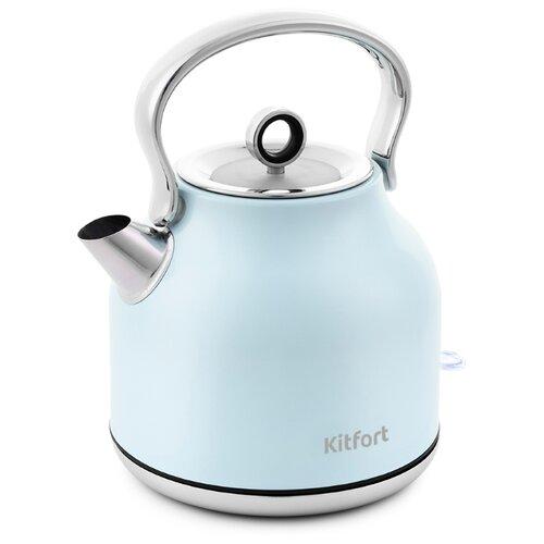 Чайник Kitfort KT-671-3, голубой чайник kitfort kt 671 бронзовый
