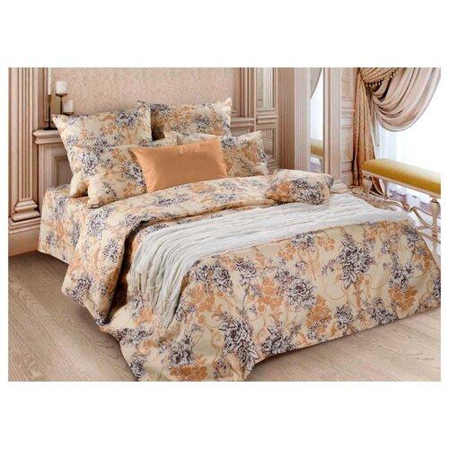 Постельное белье 2-спальное Диана-Текс Прованс 50х70 см, бязь бежевый