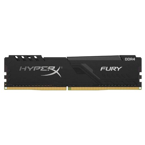 Оперативная память HyperX Fury DDR4 2666 (PC 21300) DIMM 288 pin, 8 ГБ 1 шт. 1.2 В, CL 16, HX426C16FB3/8 оперативная память kingston hyperx fury rgb hx426c16fb3a 16 dimm 16gb ddr4 2666mhz dimm 288 pin pc 21300 cl16