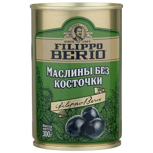 Filippo Berio Маслины без косточки в рассоле, жестяная банка 300 г corrado маслины крупные отборные без косточки 300 г