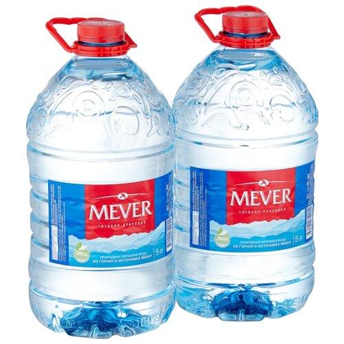 Вода минеральная питьевая природная столовая Мевер негазированная, ПЭТ, 2 шт. по 5 л
