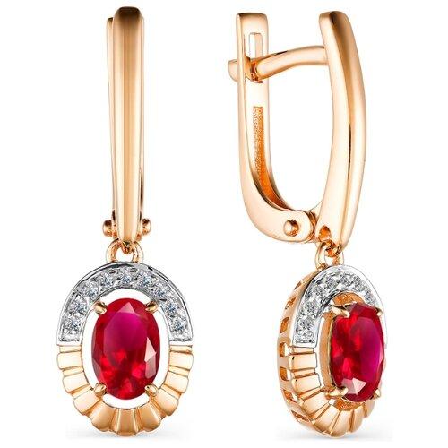 Фото - АЛЬКОР Серьги с рубинами и бриллиантами из красного золота 23480-103 алькор серьги с рубинами и бриллиантами из красного золота 23503 103