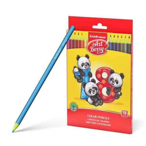 ErichKrause Пластиковые цветные карандаши шестигранные ArtBerry 18 цветов (46429) erichkrause пластиковые цветные карандаши шестигранные artberry 18 цветов 46429