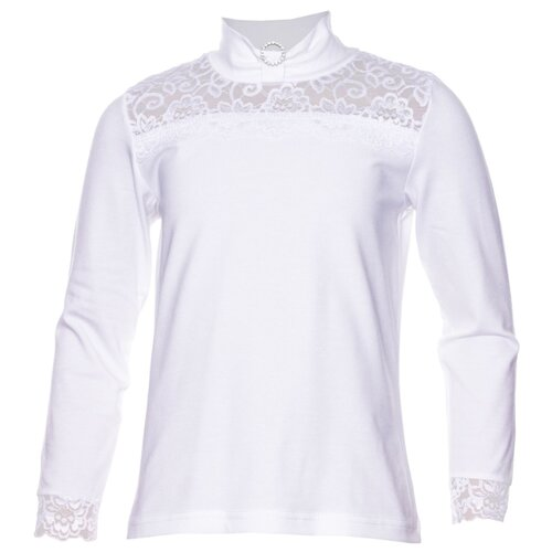 Купить Водолазка ALENA размер 134-140, белый, Свитеры и кардиганы