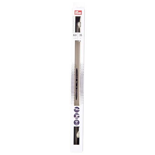 Спицы Prym полимерные Ergonomics, диаметр 8 мм, длина 35 см, алебастровый белый