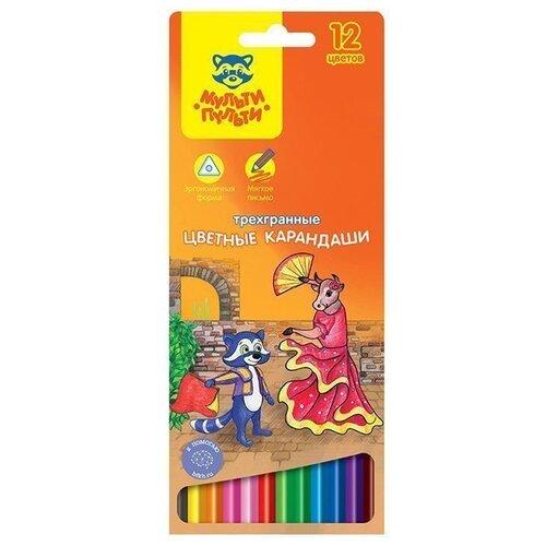 Мульти-Пульти Карандаши цветные Енот в Испании 12 цветов (CP_10754) мульти пульти карандаши цветные енот в испании 24 цвета cp 10758