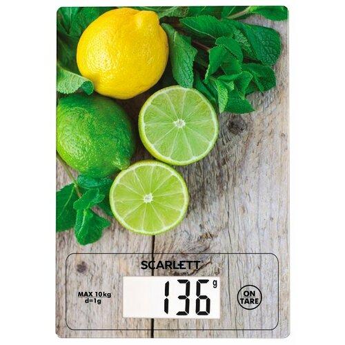 Кухонные весы Scarlett SC-KS57P21 зеленый/серый