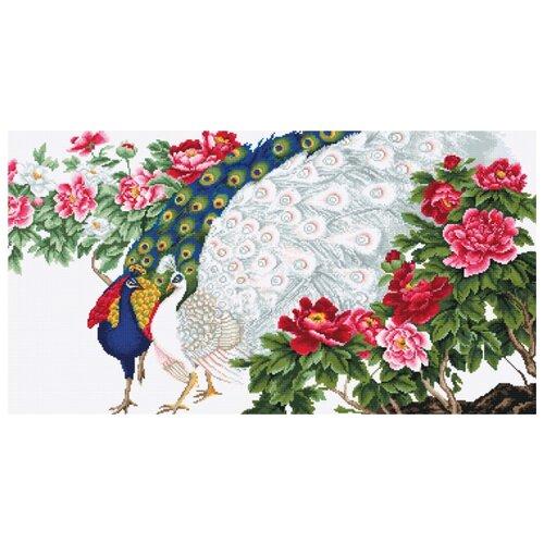 Купить Набор для вышивания Павлины в цветах, Luca-S 28 х 53 см B462, Наборы для вышивания