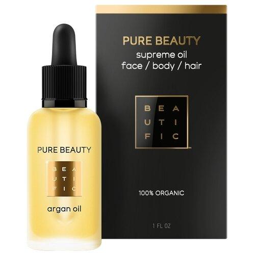 Масло для тела BEAUTIFIC Pure Beauty Argan Oil органическое нерафинированное, бутылка, 30 мл