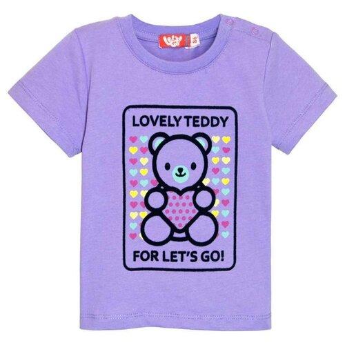 Купить Футболка Let's Go, размер 74, фиолетовый, Футболки и рубашки