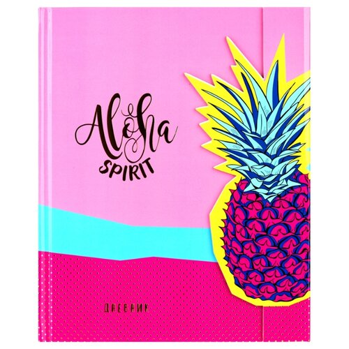 Купить Greenwich Line Дневник школьный Aloha spirit розовый/желтый/голубой, Дневники