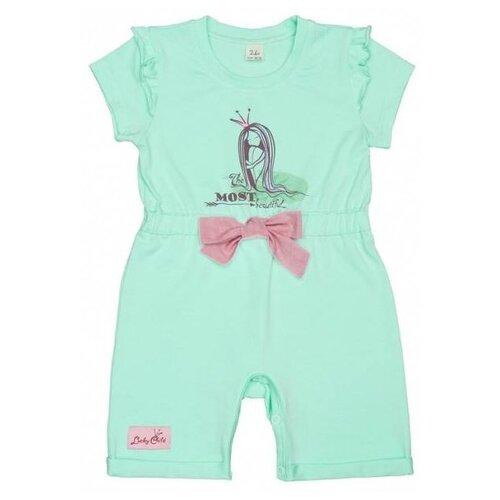 Купить Полукомбинезон lucky child Принцесса сказки 45-28к размер 26, мятный, Брюки и шорты