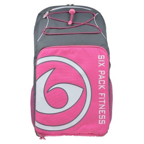 Six Pack Fitness Рюкзак Pursuit Backpack 500 серый/розовый/белый 38 л