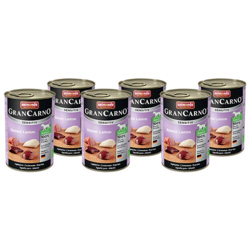 Влажный корм для собак Animonda GranCarno ягненок 6шт. х 400г корм для собак animonda grancarno sensitiv с чувствит пищеварением ягненок картофель 400г