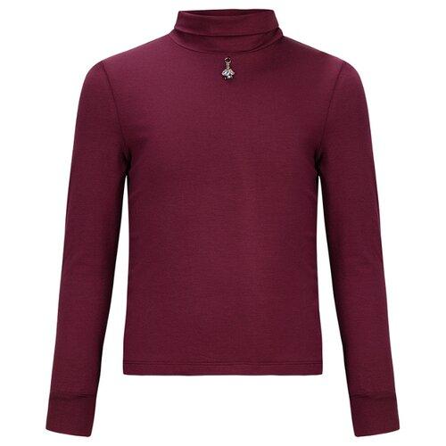 Водолазка Stylish Amadeo размер 128, бордовый stylish pink strappy babydoll for women