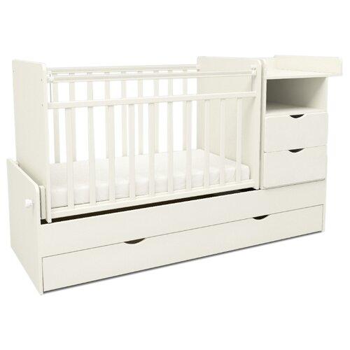 Кроватка SWEET BABY Valentino (трансформер), поперечный маятник белый детские кроватки sweet baby ennio маятник поперечный