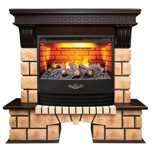 Электрический камин RealFlame Stone Brick 25/25,5 + Firestar 25,5 3D античный дуб электрический камин realflame kellie 25 5 26 firestar 25 5 3d белый камень