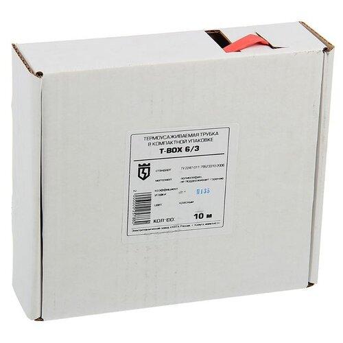 цена на Трубка усаживаемая (термоусадочная/холодной усадки) КВТ Т-BOX-6/3 (красный) 6 / 3 мм