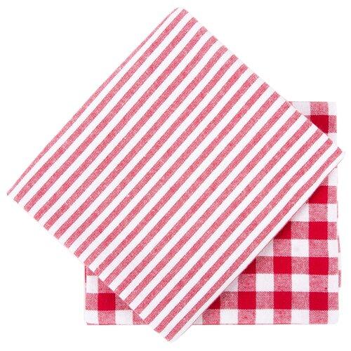 Arya Набор кухонных полотенец Kusumi кухонное красныйПолотенца<br>