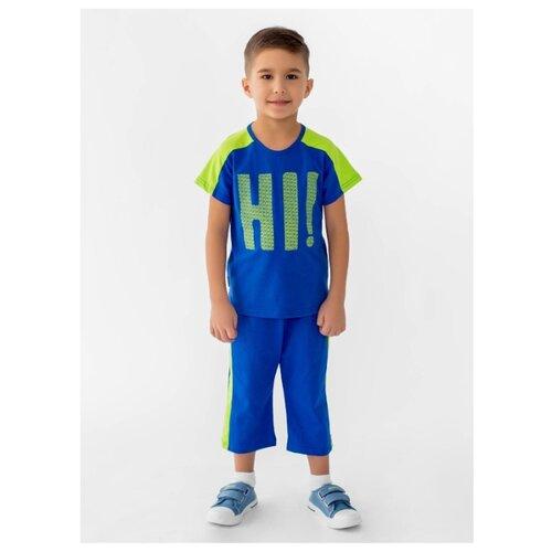 Комплект одежды looklie размер 98-104, васильковый/салатовый комплект одежды looklie размер 98 104 изумрудный
