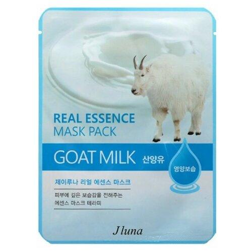 Фото - Juno тканевая маска Real Essence Mask Pack с козьим молоком, 25 мл маска тканевая juno j luna q10 для лица 3 шт 25 мл