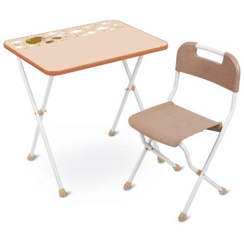 Купить Комплект Nika Алина (КА2) 60x45 см бежевый, Парты и столы