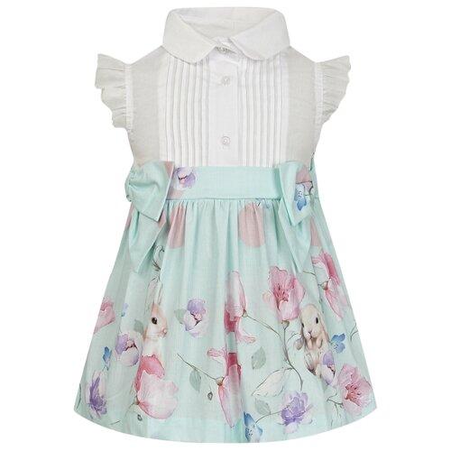 Платье Lapin House размер 80, белый/голубой