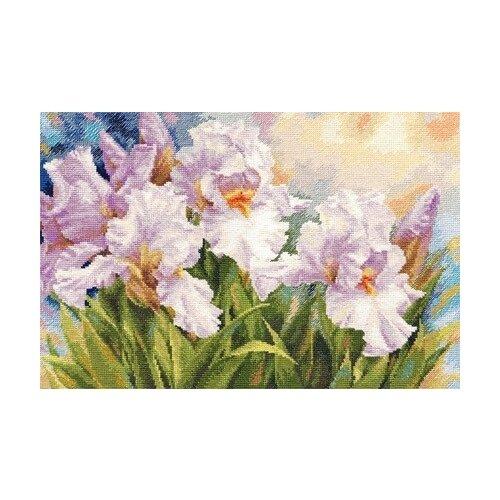 Купить Алиса Набор для вышивания крестиком Белые ирисы 40 х 27 см (2-36), Наборы для вышивания