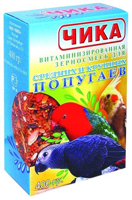 Корм чика для средних и крупных попугаев 400г