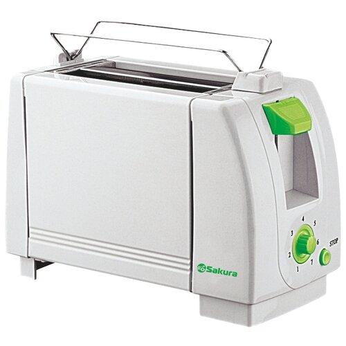 Тостер Sakura SA-7600G, белый/зеленый