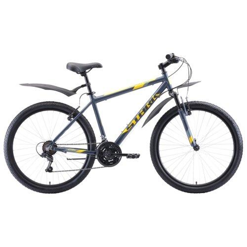 Горный (MTB) велосипед STARK Outpost 26.1 V (2020) серый/желтый 18 (требует финальной сборки) велосипед stark vesta 26 3 v зелено желтый 16
